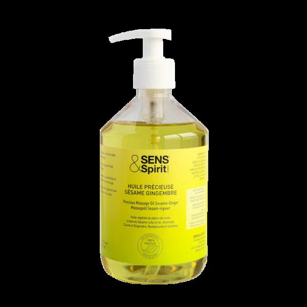 Sesam-Massageöl mit Ingwer, Pumpflacon, 500 ml
